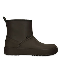 0427d51cf80c New Women s Crocs ColorLite Boot Shoes SZ 5 6 7 Mahogany Black