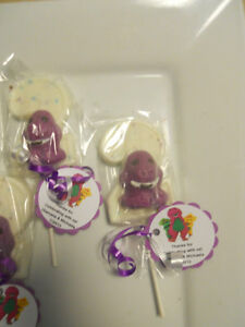 Image Is Loading 12 Barney 2nd Birthday Party Favors Gourmet Chocolate