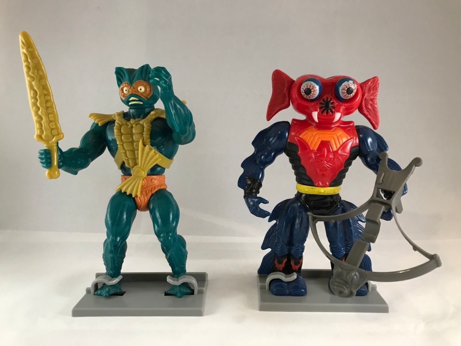Vintage He Man MOTU Masters Masters Masters of the Universe Figure Stands (1982-88) 6e1ab1