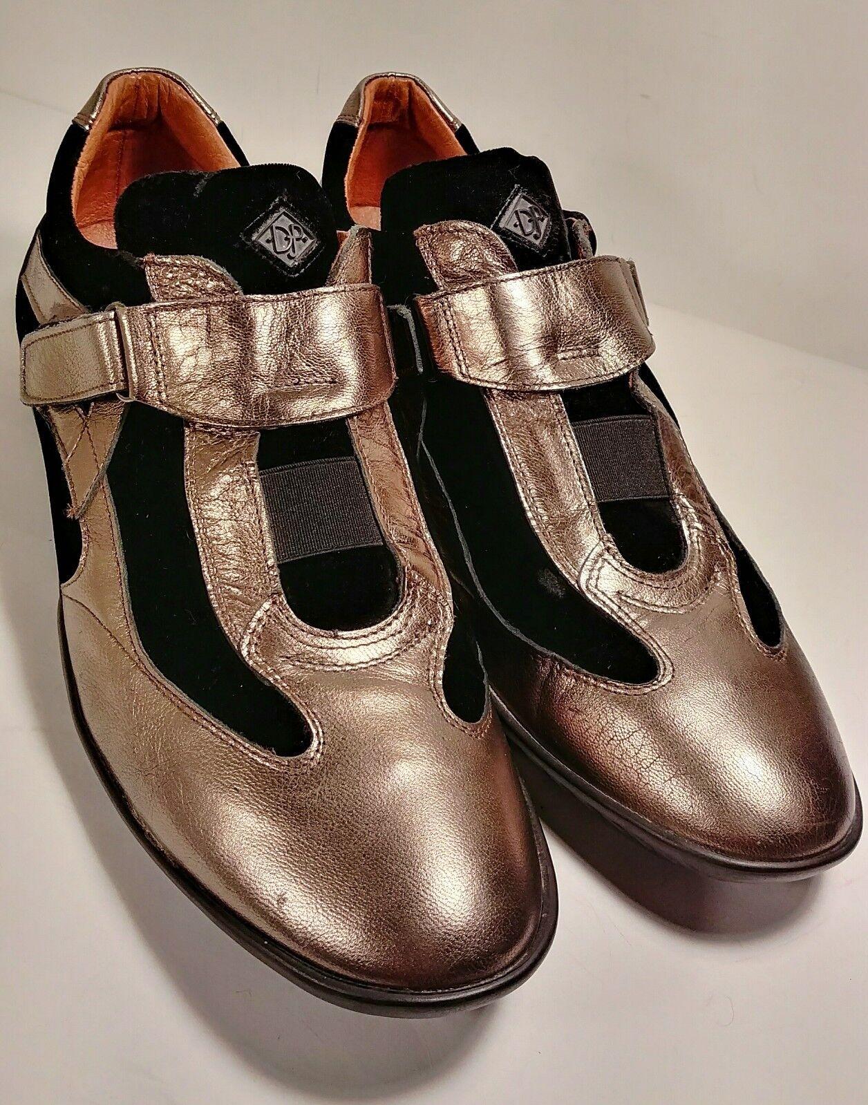 DONALD J PLINER SPORT DOTARE Marronee Metallic Leather Donna    Dimensione 9.5 EUC  d722c9