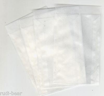 KüHn 500 Pergamintüten Hochwertige Qualität 75x117 Mm Und 16 Mm Klappe Pt705 Briefmarken