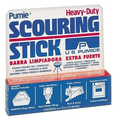NEW US PUMICE PUMIE HDW-12 HEAVY DUTY TILE, STONE, ETC CLEANING SCOURING STICK