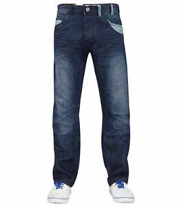 Enzo-Mens-Straight-Leg-Jeans-Regular-Fit-Denim-Trousers-Pants-All-Waist-Sizes-UK