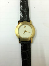 Orologio movado museum donna SWISS pelle nera 87A1824 WATCH black LEATHER new