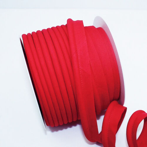 Jumbo Bias Piping Plain Large Red 46 Upholstery Flanged Insertion Trim