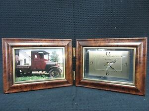 Bulova Desk Clock And Picture Frame Ebay
