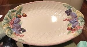 Antique-Big-Oval-Plate-Porcelain-made-in-Portugal-Hand-Made