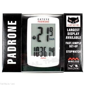 d67624f6d Image is loading Cateye-Padrone-Large-Display-Wireless-Bike-Computer-Road-