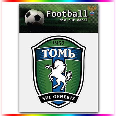 "FC Tom Tomsk UEFA Die Cut Vinyl Sticker Car Bumper Window 4/""x3.1/"""