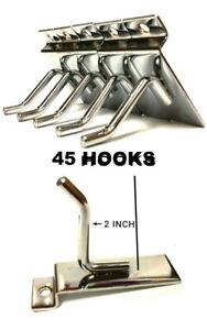 45-PCS-2-034-INCH-SLATWALL-SLAT-BOARD-HOOKS-ACCESSORY-SINGLE-SHOP-RETAIL-DISPLAY
