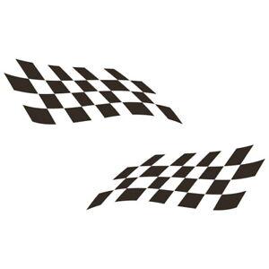 Rennflagge-Aufkleber-Racing-Flag-Flaggen-Rennsport-Flags-Schwarz-Auto-Motorrad