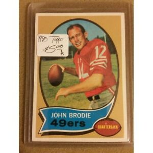 d8949614fcb Image is loading 1970-Topps-130-John-Brodie-San-Francisco-49ers