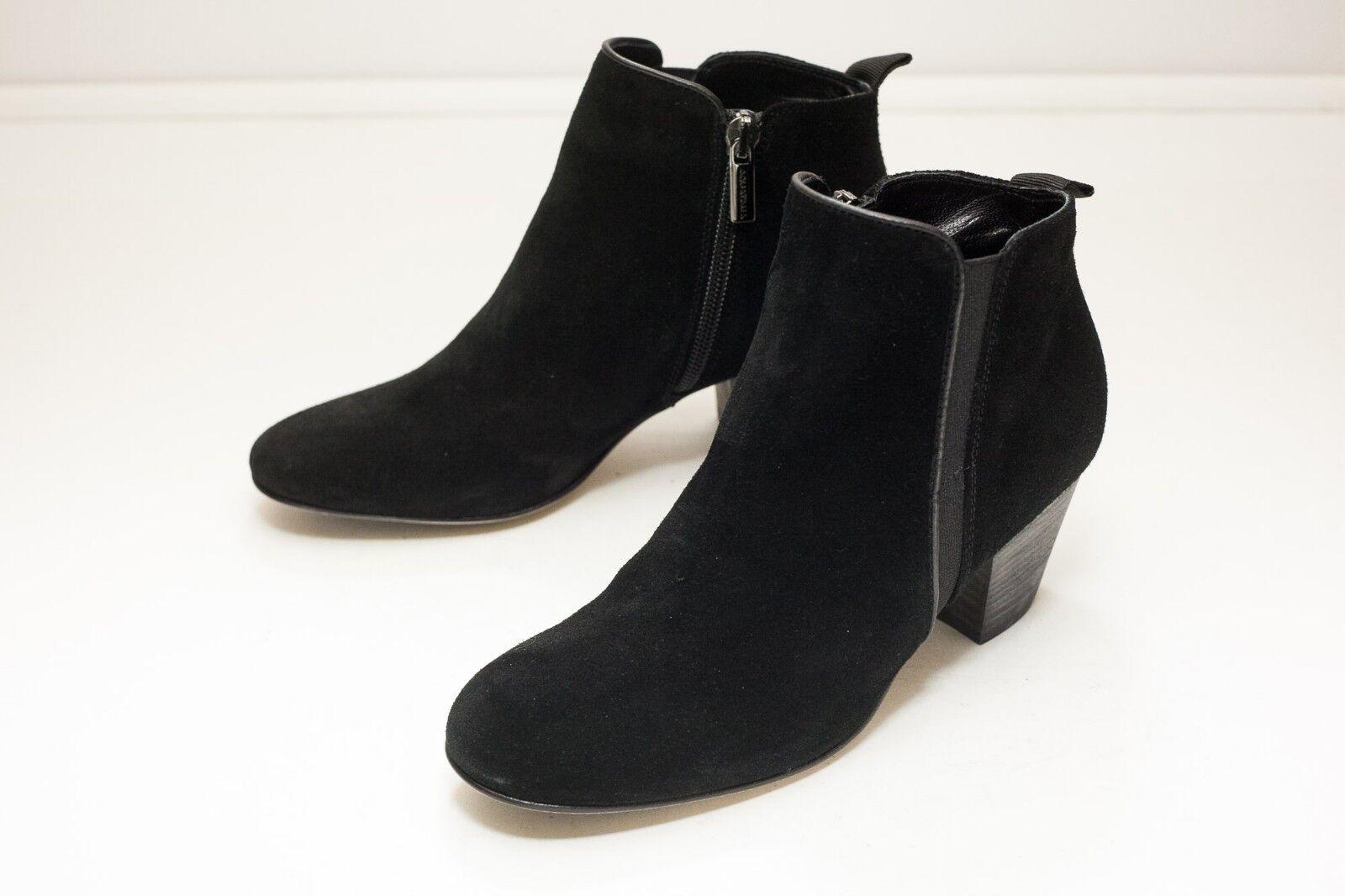 Aquatalia 5.5 Black Suede Ankle Boots Zip Zip Zip Women's  5abe5d