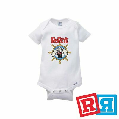 Vintage Cartoon Popeye Who Gives Toot Sailor Newborn Romper Bodysuit For Babies