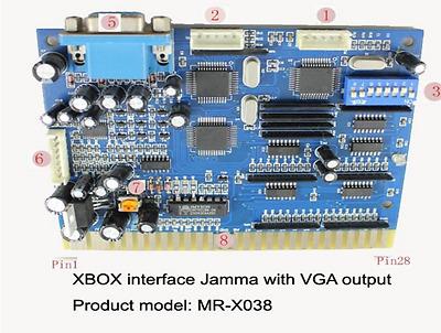 Xbox coin operated  Jamma Arcade timer board console timer MR-X038 Vga output