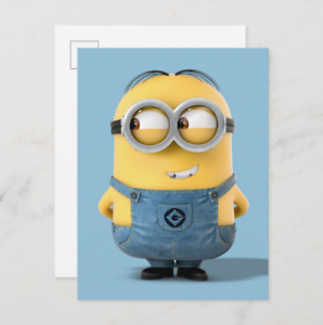 Despicable Me | Minion Dave Smiling Graphic Movie Postcard