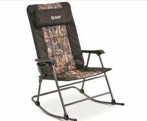 Folding Rocking Chair 500lbs Camping Rocker Porch Outdoor