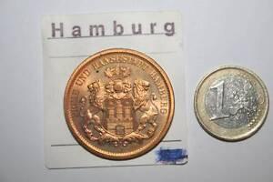 % ESCUDO DE HAMBURGO, , HAMBURGO LIBRE, 100 AÑOS DE MONEDA,1975  VER FOTOS, LEER