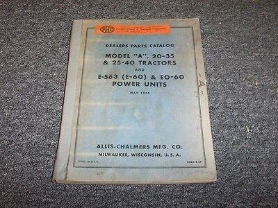 Rare Parts Manual Allis Chalmers 20-35 SN0-8069