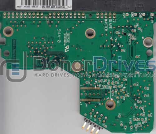 WD400BB-75JHC0 WD IDE 3.5 PCB 2060-701292-000 AV