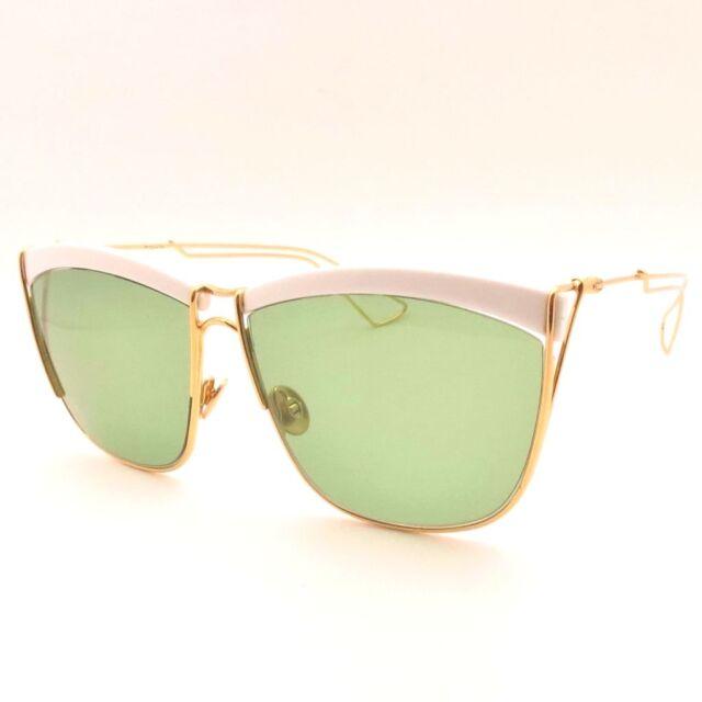 f859d5bb6e Christian Dior so Electric 266 DJ Yellow Gold White Green Sunglasses  Authentic