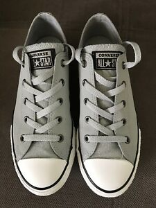 Details about Converse Junior Chuck Taylor All Star Ox Grey Glitter 3.5 36