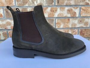 f7e717a6cf Men's Thursday Boot Company Chelsea Boots Dark Olive Suede Green ...