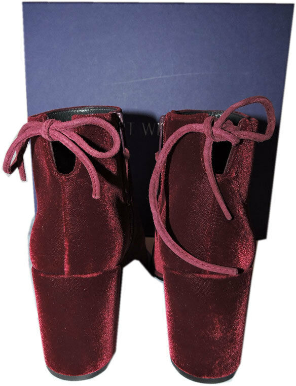 525 525 525 Stuart Weitzman Stiefel Lofty Bordoux Velvet Ankle Stiefelies schuhe Sz 6.5 c895b2
