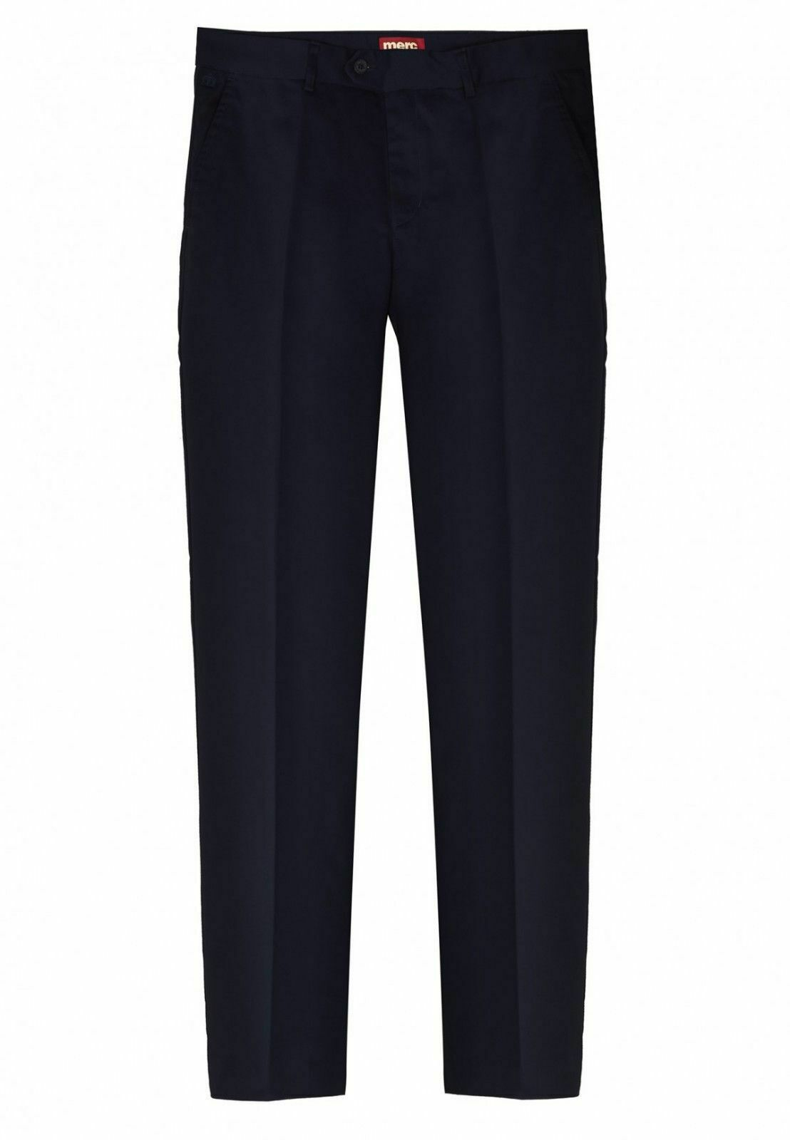 MENS MERC LONDON MOD CLASSIC STA PRESS TROUSER WINSTON - NAVY
