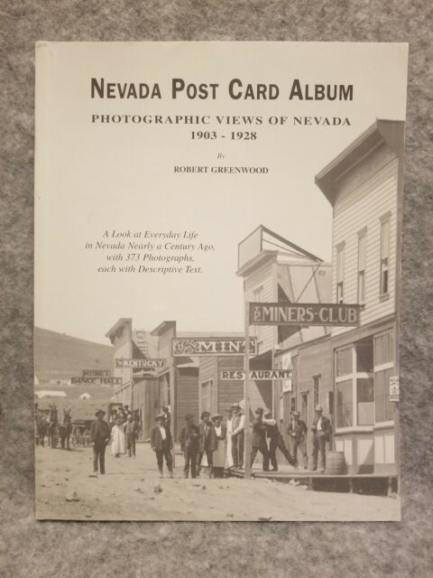 Nevada Post Card Album by Greenwood Views of Nevada 1903-1928 B&W Mining Photos