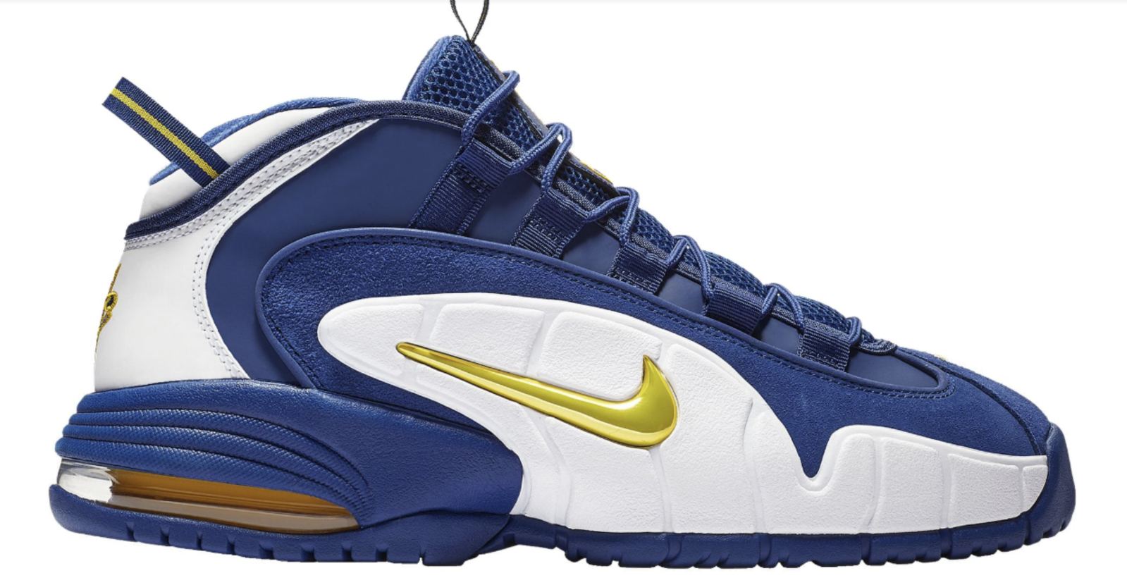 New NIKE AIR MAX PENNY 85153401 MEN'S Deep Royal bluee yellow White shoes c1