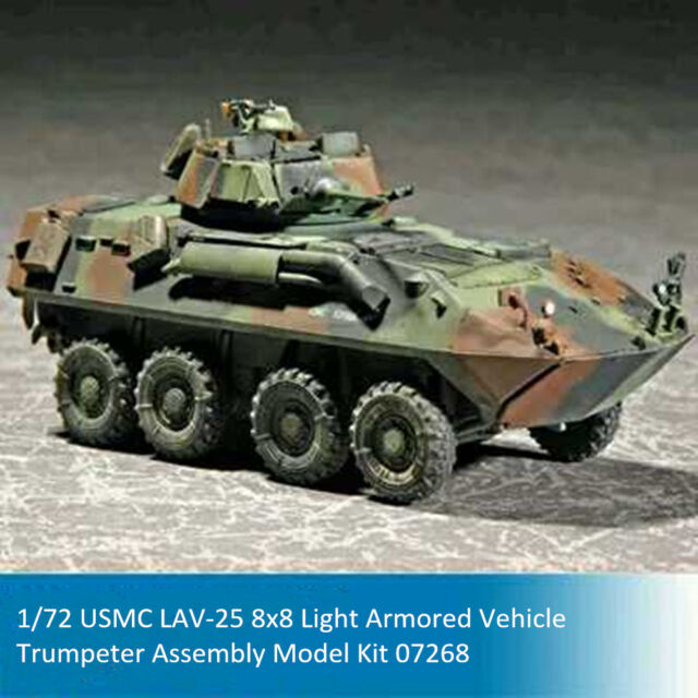 Attractive Trumpeter 07268 1/72 USMC LAV 25 8x8 Light Armored Vehicle Assembly Model  Kits Nice Design