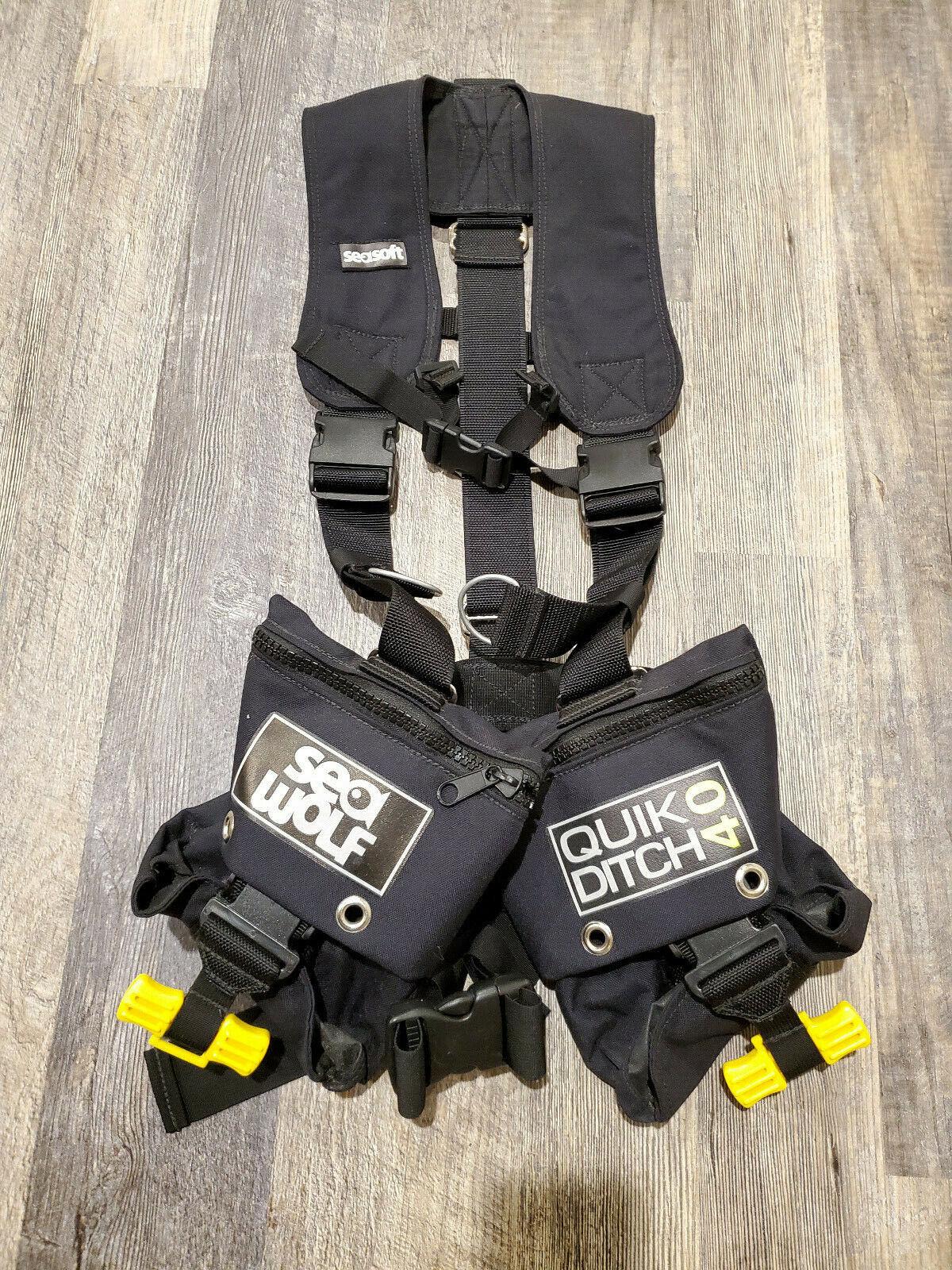 Seasoft Seawolf Scuba Weight Belt  Harness, Scuba Duiken