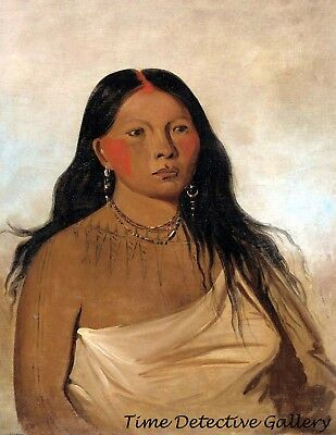 1835 Hah-je-day-ah-shee aka /'Meeting Birds/' Ojibwe Indian Historic Art Print