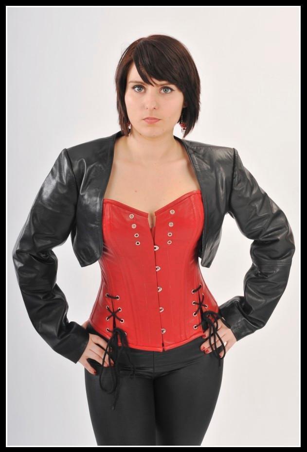 New Exclusive Offer  Hot & Sexy Women's 100% Genuine Leather Biker waist Coat-40