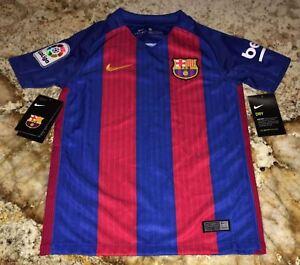 38da98ff322 NIKE 16 17 FCB Barcelona Barca Red Blue Home Soccer Jersey NEW Youth ...