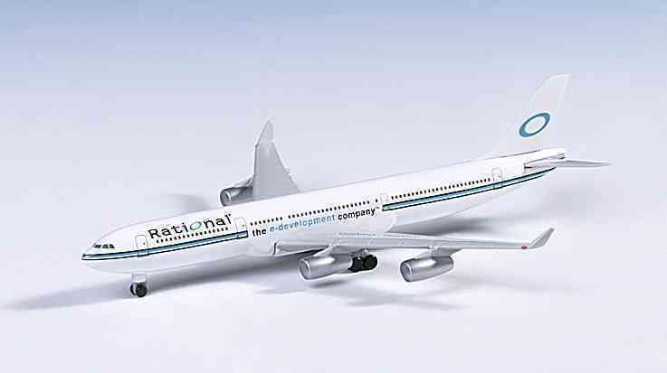 Herpa 504614 Rational Software E-Société de développement Airbus A340-300 échelle 1 500