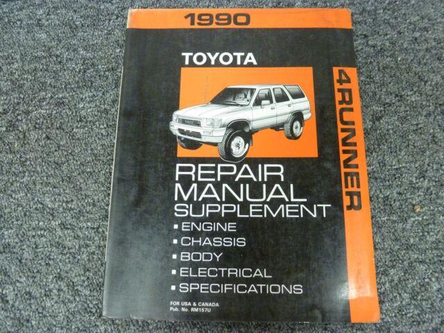1990 Toyota 4runner Suv Shop Service Repair Manual
