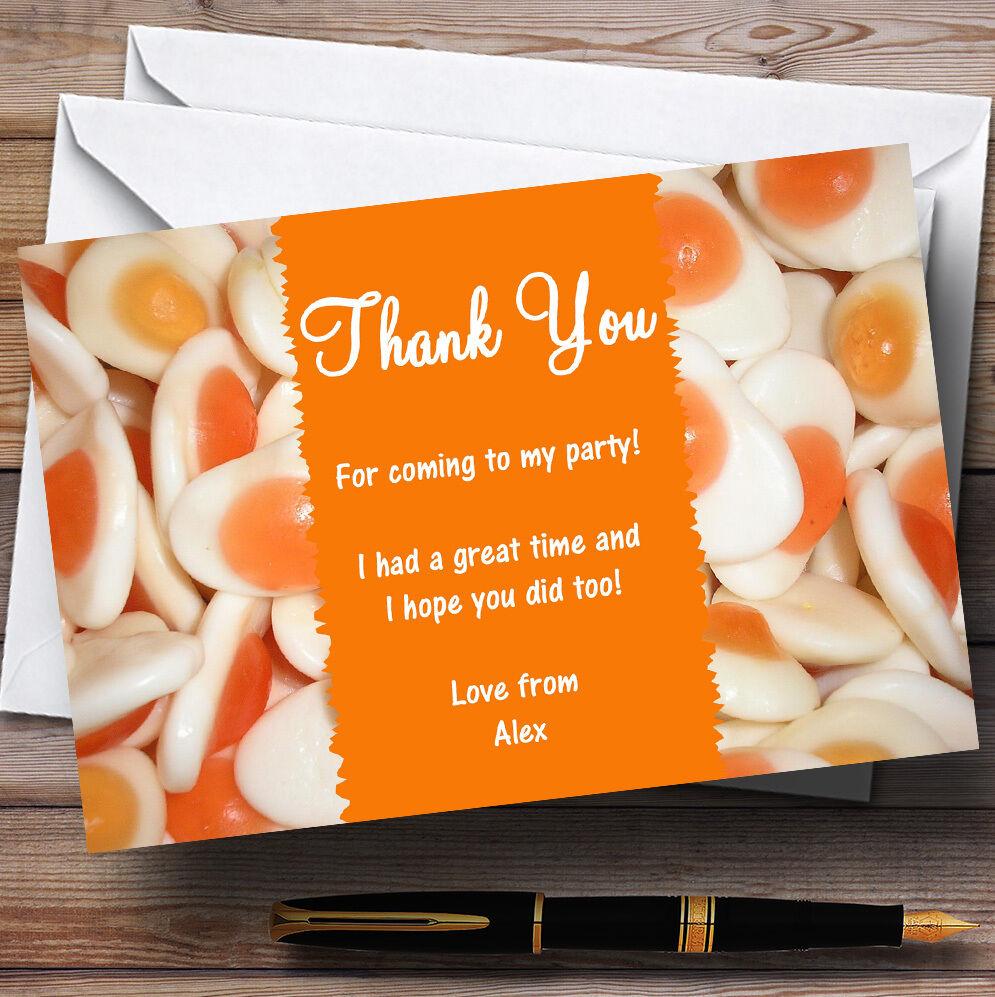Œuf frit frit Œuf bonbons personnalisé enfants partie cartes remercieHommes t 4a9be4