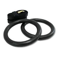 Gym Rings Gymnastic Olympic Pair for Crossfit Pull Ups Strength Training
