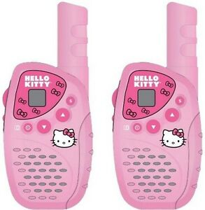 Hello-Kitty-KT2022-Mini-FRS-GMRS-2-Piece-Walkie-Talkie-Radio-System-Set-NEW