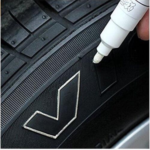 White Waterproof Car Tyre Tire Tread Rubber Paint Pen Markers Pen Permanent 1pcs