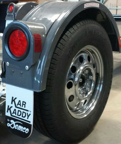 5982 Drive Grey with Round Light Demco Kar Kaddy SS Fender Assembly Left Side