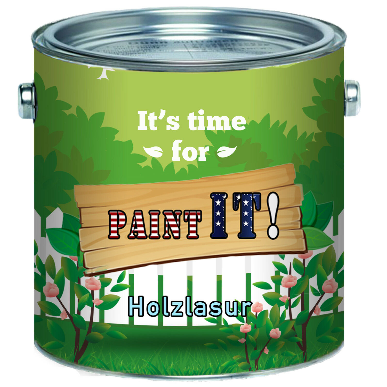 Paint IT  hochwertige Holz-Lasur stoppt Verfärbung Holzöl 2,5L 5L 10L 20L Pinie