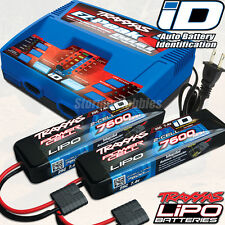Traxxas EZ-Peak Dual Charger #2972 w/2x 7600mAh iD 2s Lipo packs ~FREE-SHIPPING~
