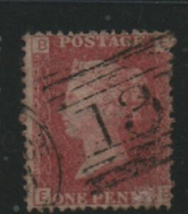 GB-1858-79-Penny-Red-SG43-Plate-number-154-EE-good-used-stamp