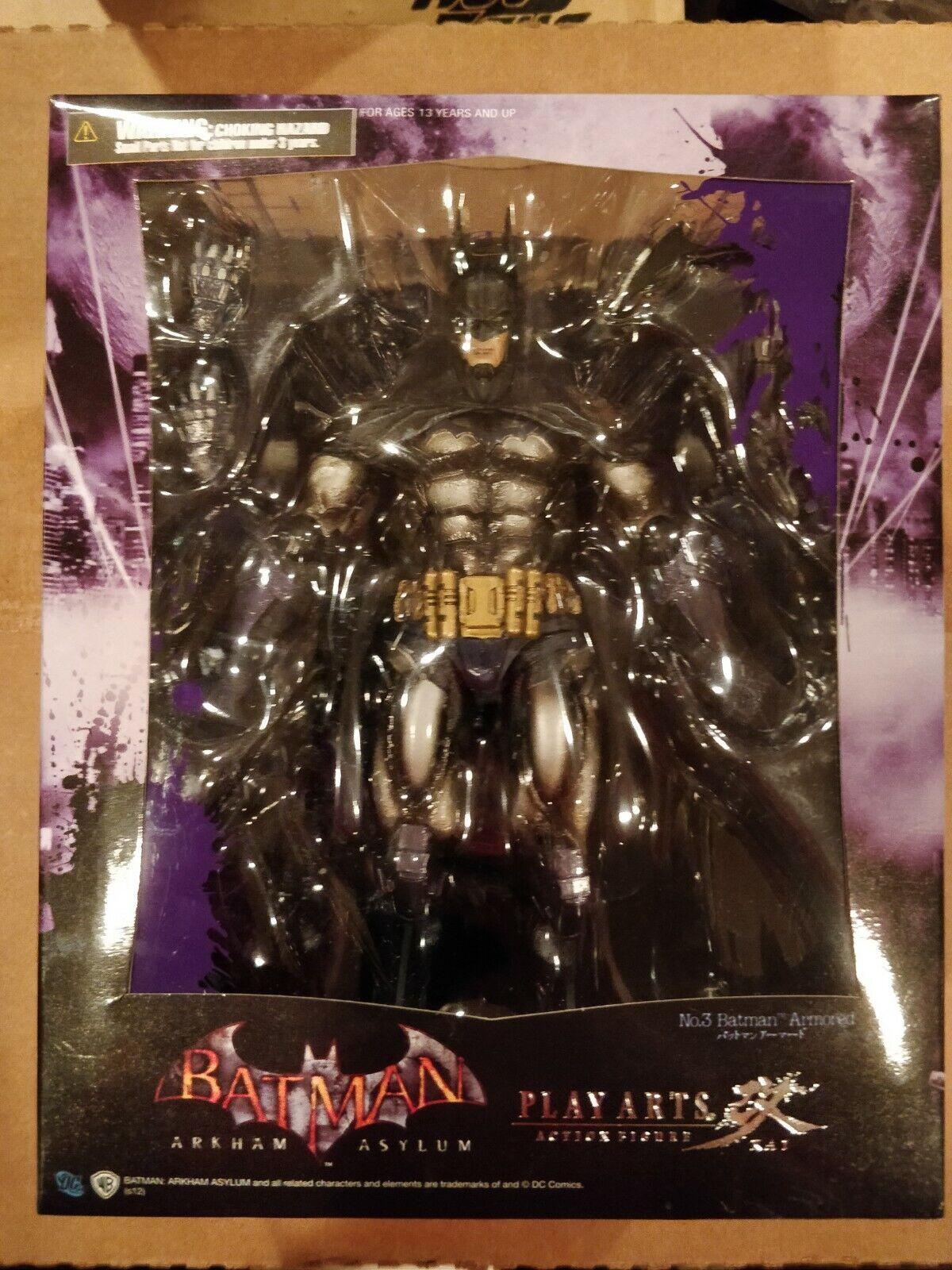 Play Arts Kai Armored Batman Arkham Asylum Figure