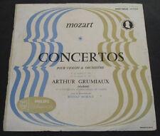 MOZART : VIOLIN CONCERTO GRUMIAUX , MORALT . Philips A 00.199 L  Minigroove  lp