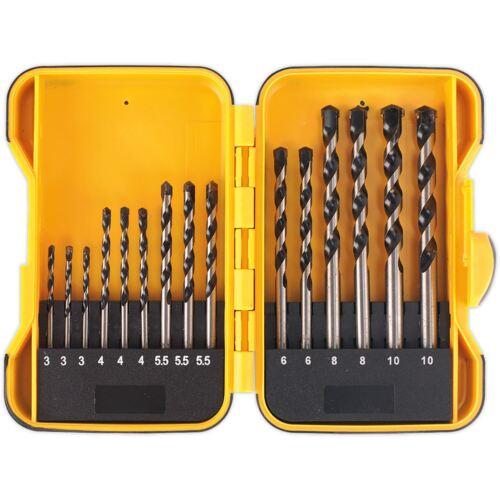 Siegen 15pc Masonry Drill Bit Set métrique 3-10 mm Avec étui rangement