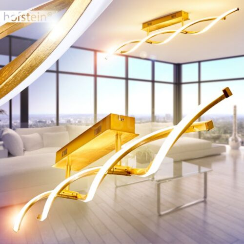 Dimmbare Decken Leuchte Luxus LED Flur Wohn Schlaf Zimmer Beleuchtung Goldfarben